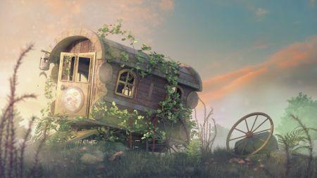 Old Circus Cart