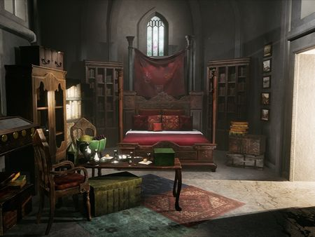 Renaissance Bedroom Game Environmental Modeling