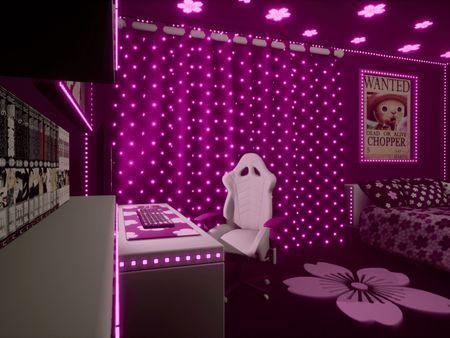 Girly otaku bedroom