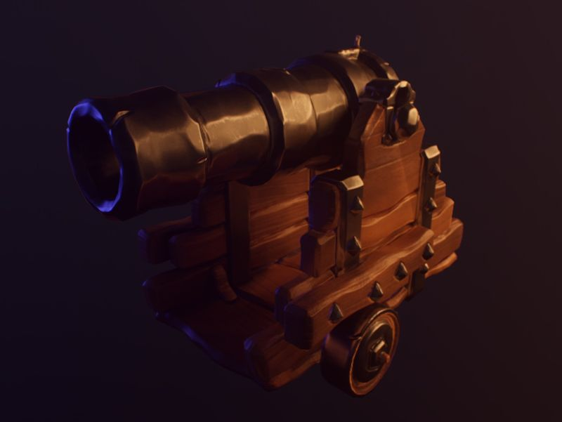 Sea Of Thieves Style Cannon