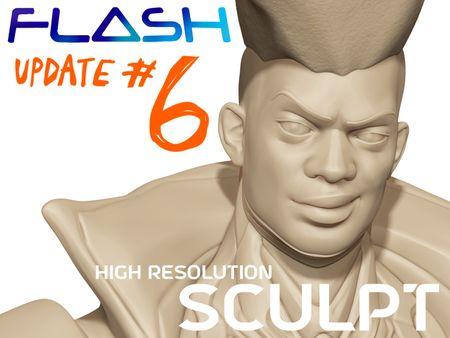 High Resolution Flash Gordon Sculpt