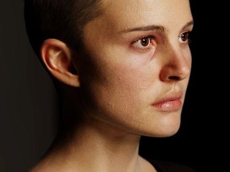 Head study (based on Natalie Portman)