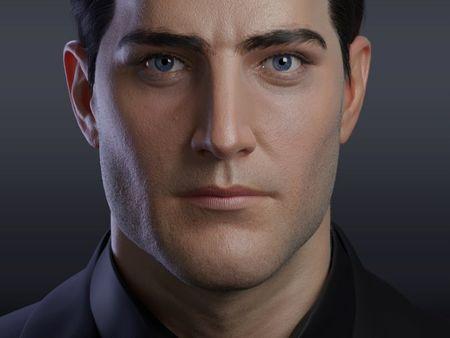 Bruce Wayne 3d portrait.
