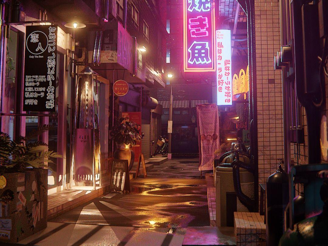 """""""Lovers Alleyway"""" - Real Time Photoreal Scene in EEVEE"""