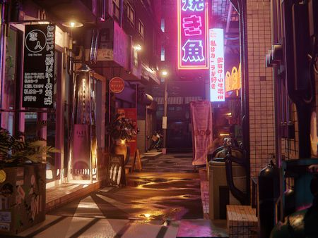 """Lovers Alleyway"" - Real Time Photoreal Scene in EEVEE"