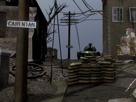 Carentan World War 2 Scene