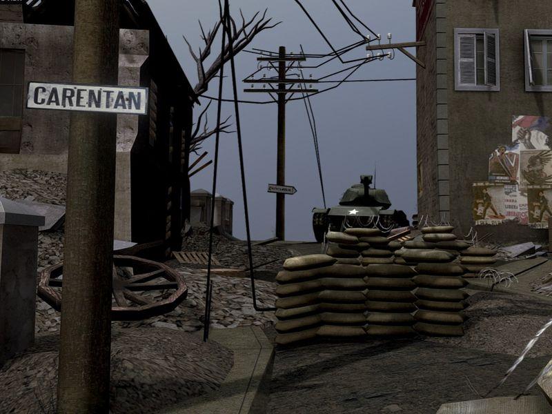 Carentan World War 2 Scene