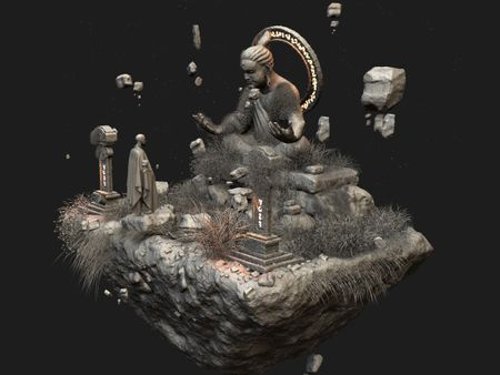 Fantasy Buddhist Statue