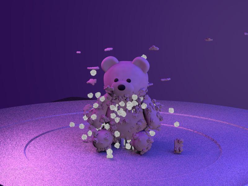 Forgotten Teddy - 3D asset animation
