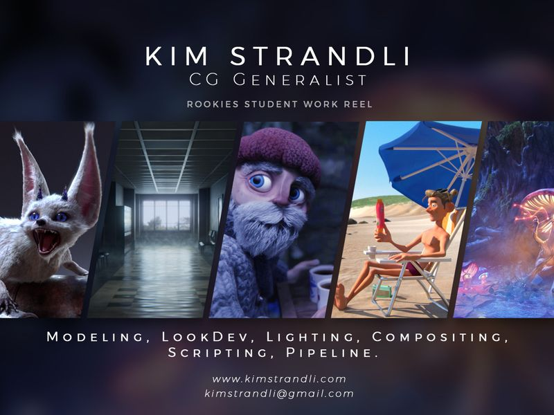 Kim Strandli - CG Generalist Student Portfolio