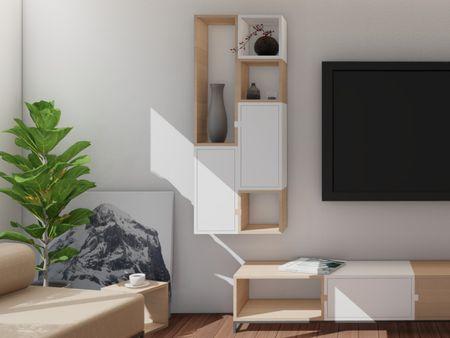 Modular furniture in living room
