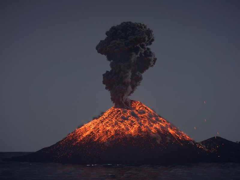 Krakatoa Volcano Eruption
