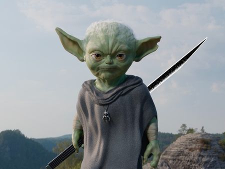 Adult Grogu/ baby Yoda