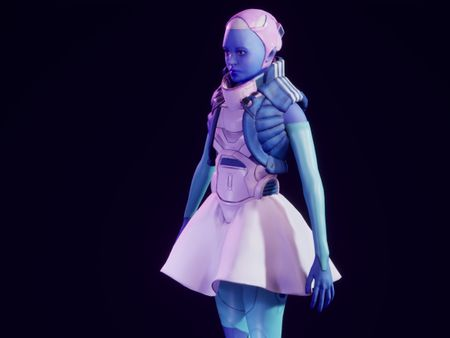 Blue Robot Lady