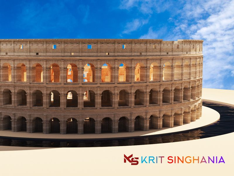 Roman Colosseum- 3D Model