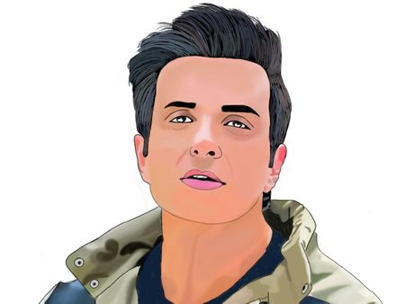 Digital art of Sonu Sood