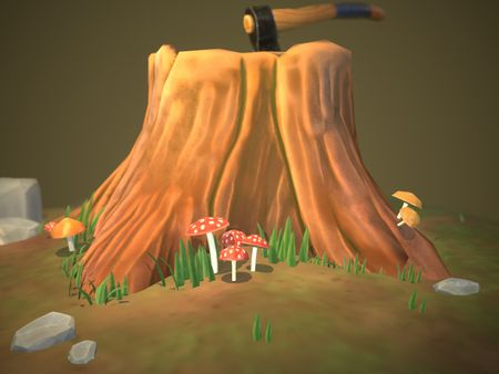 Stylized Tree Stump
