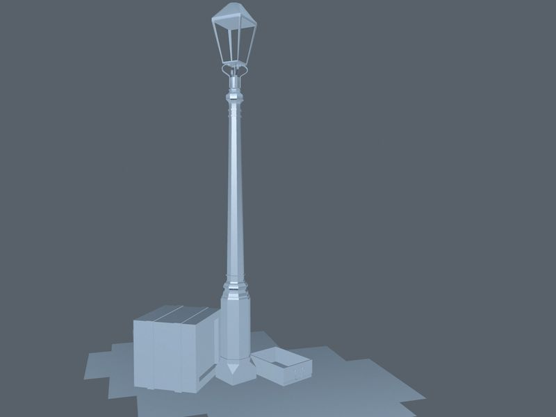 Street Lamp Diorama
