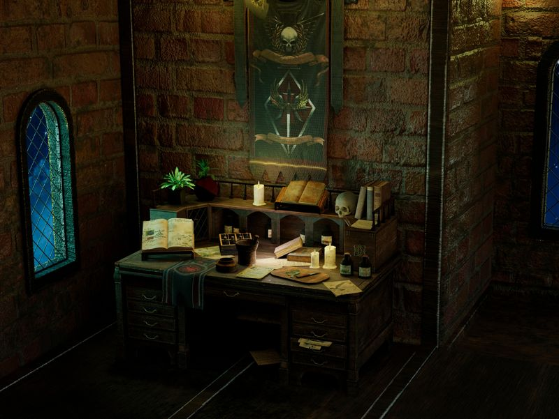 Alchemist's desk
