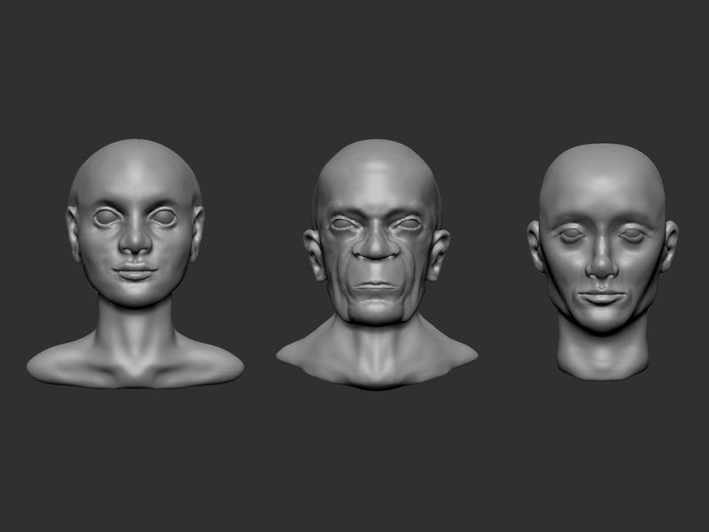Zbrush Head Studies