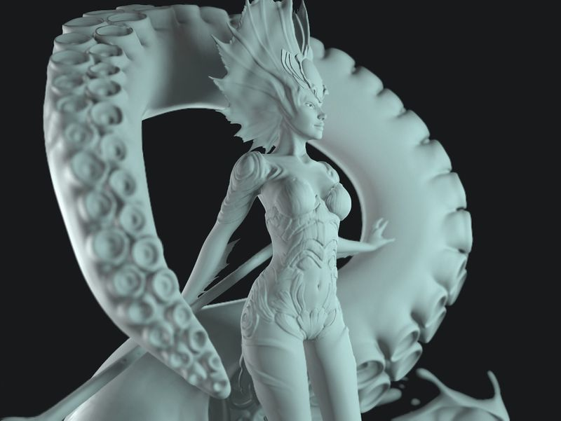 Kiora the crashing wave || Statue sculpt