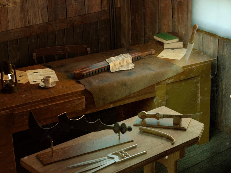 Cabinet of Curiosities - Weapons and Traps at the time of the Far West