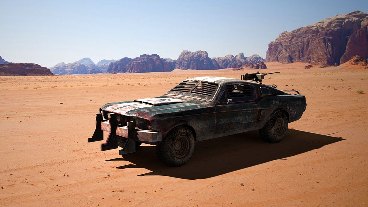 Ford mustang mad max version the rookies