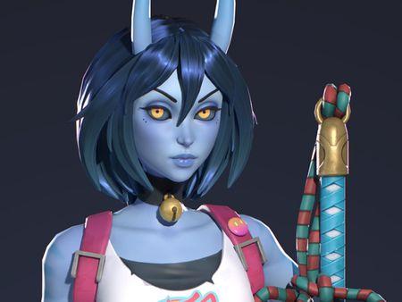Azura Blue Oni