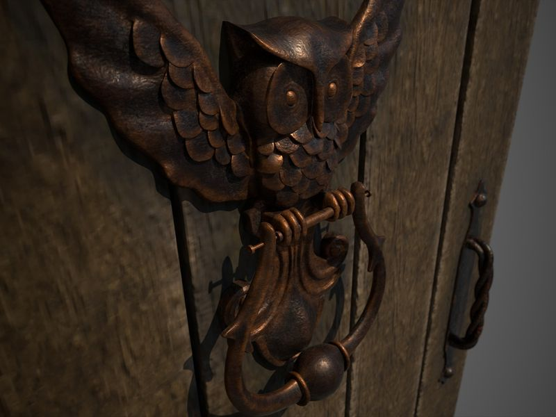 Medieval door & knocker