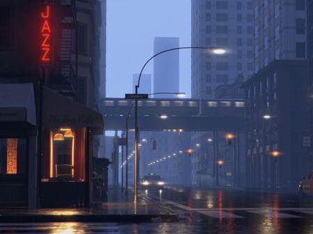A moody street!