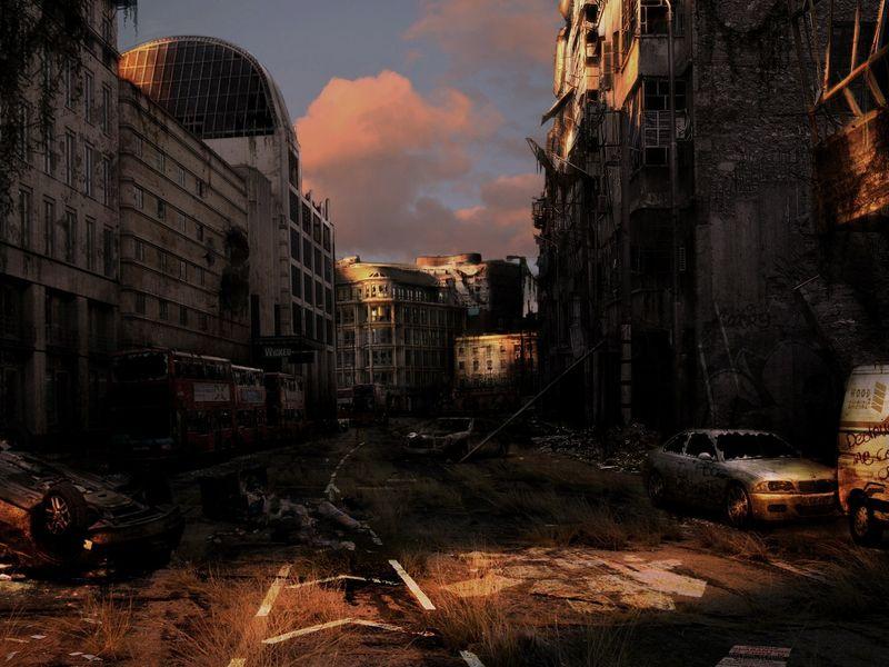 Abandoned street scene