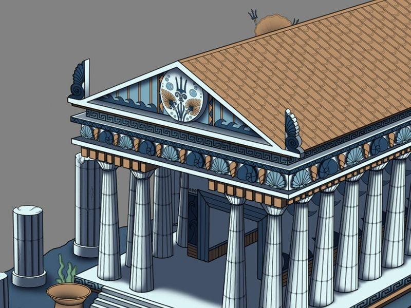 Temple  Grec 2D