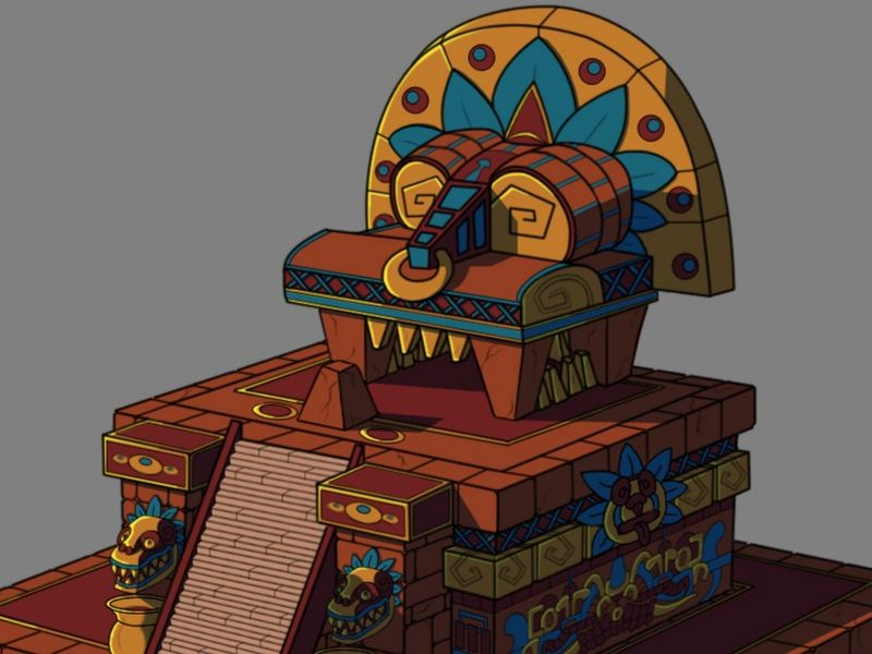 Temple Maya 2D