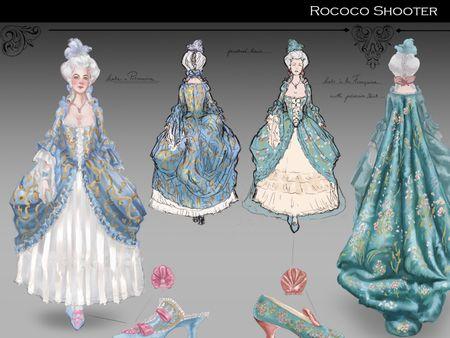 Rococo Shooter Concept
