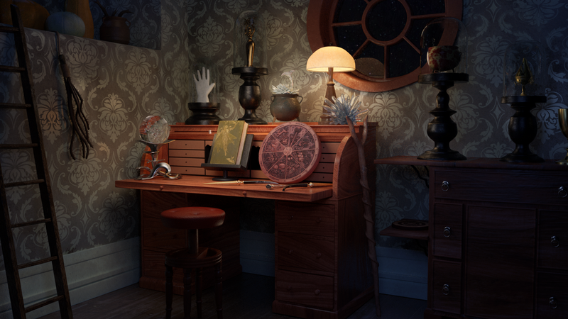 Witchcraft curiosity cabinet