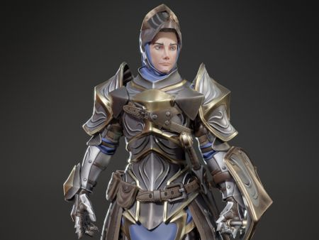 Stylized Knight - Game Ready Character