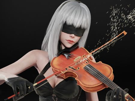 10E, The Violinist  - Nier: Automata fanart character