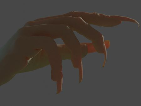 Witchy Hand - Learning Part: Blender.
