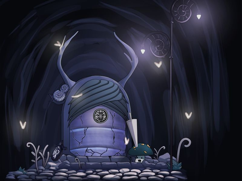 """""""Entrance"""" - Door Concept (Hollow Knight style study)"""
