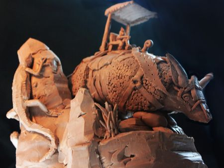 """Incan Mount"" - Sculpt, Photos, Concept Design and Painting"
