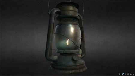 """Lovecraftian Storm Lamp"" - 3D prop"