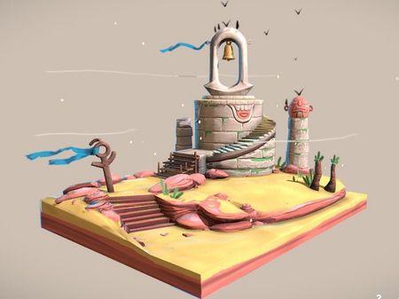 """""""The Reach"""" Architecture - 3D Diorama"""