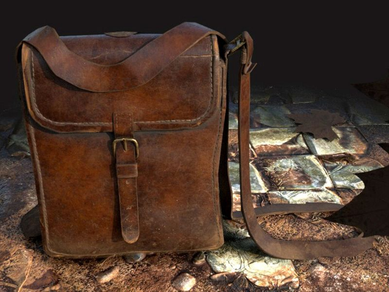 """W.W2 Military Officer Bag"" - 3D Prop"