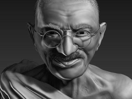 """""""Mahatma Gandhi"""" - 3D Sculpt"""
