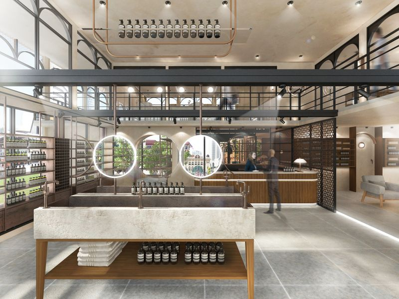 Aesop Pop-Up Retail Container Store