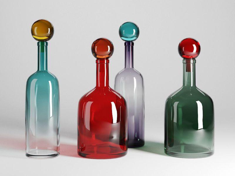3d bubbles & bottles