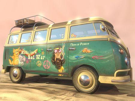 Volkswagen Hippie Bus