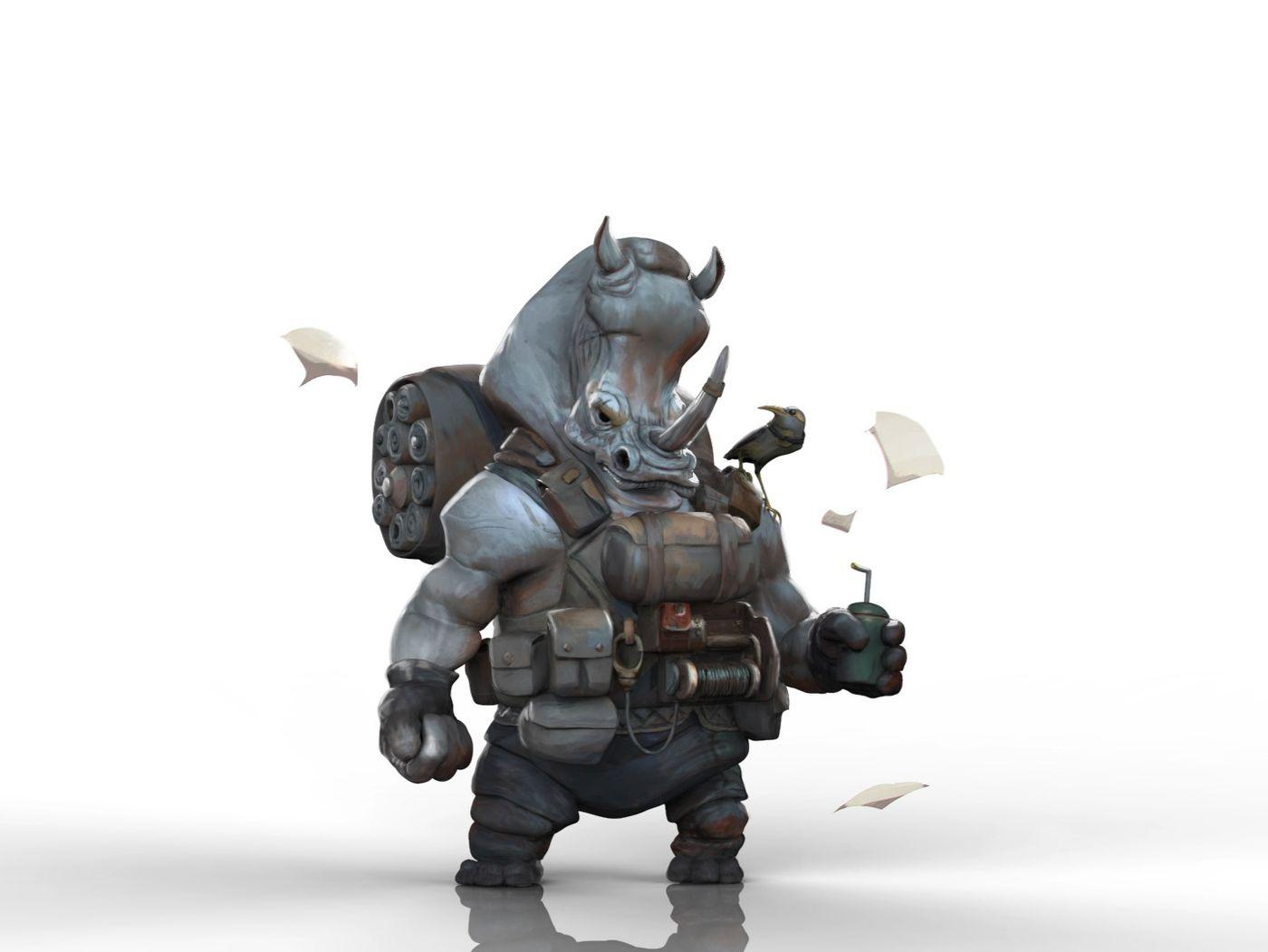 Rhino digital sculpture