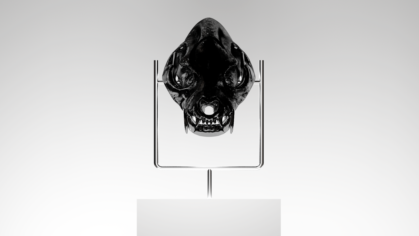 Skull Stand Rough 2 Litschi