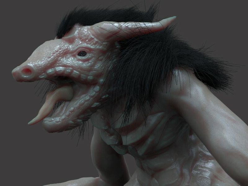 W.I.P  Bloodborne and Dark Souls styled Creature